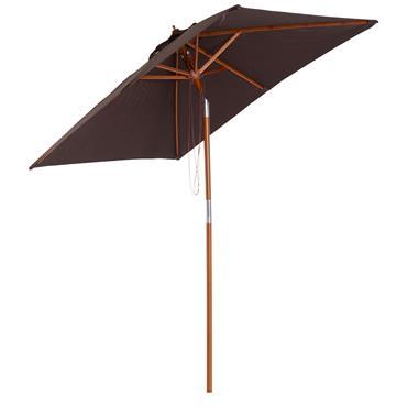 Parasol rectangulaire inclinable chocolat
