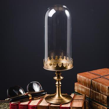 Dimensions : L 10cm x 10cm x H 33cm Globe oval VIDE sur socle laiton. Une manière élégante et raffinée, de ... Domozoom
