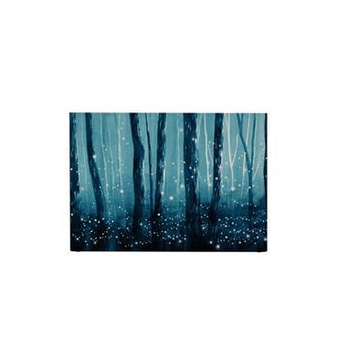 Tête de lit avec housse Bleu 140 cm