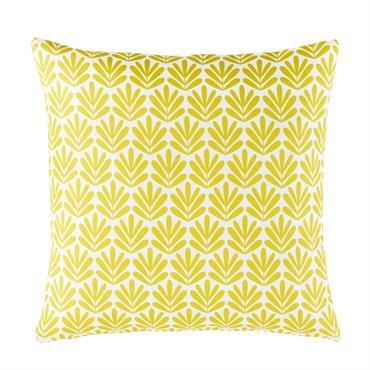 Coussin d'extérieur motifs graphiques jaunes 45x45