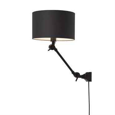 Applique noire flexible et abat-jour L65cm