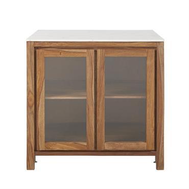 Donnez du cachet à votre cuisine et profitez d'un espace aussi beau que pratique avec le meuble bas de cuisine vitré STOCKHOLM Son atout ? L'association réussie de la chaleur ...