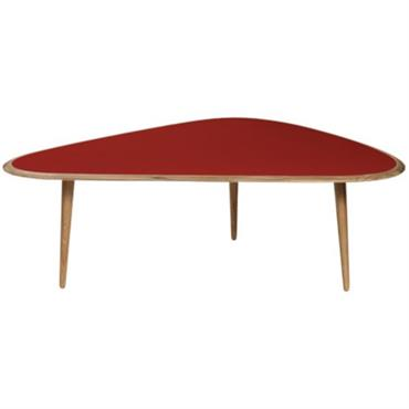 Grande table basse rouge Fifties - RED Edition