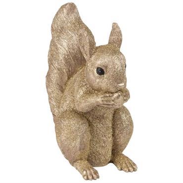 Statuette écureuil brillant H21
