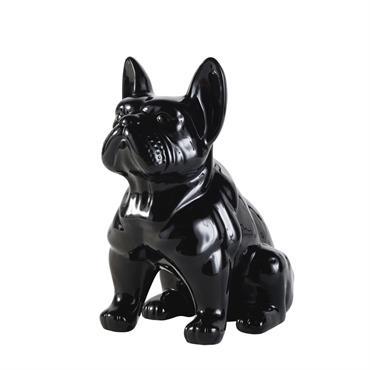 Statuette chien en dolomite noire H39