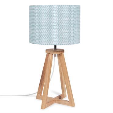 Lampe en métal abat-jour bleu à motifs DALINA