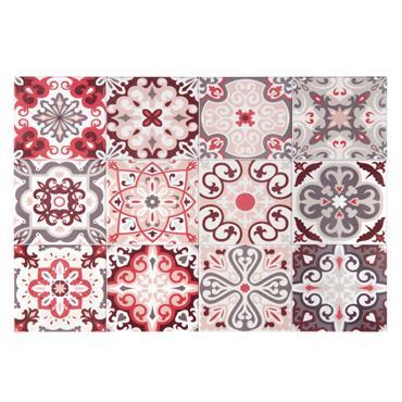 Set de table en vinyle motifs carreaux de ciment 30x45