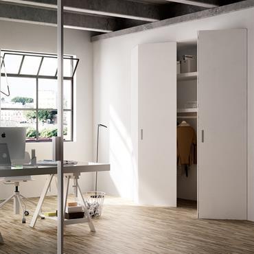 Quel est l'élément commun entre un dressing, un placard de rangement sous-escalier, une niche, une trappe de visite et un ... Domozoom