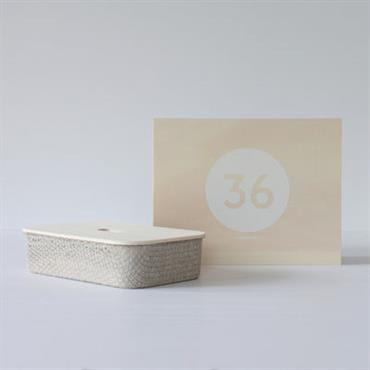 Coffret Designerbox#36 / Boite en lin Fabric - Philippe Nigro - Designerbox gris
