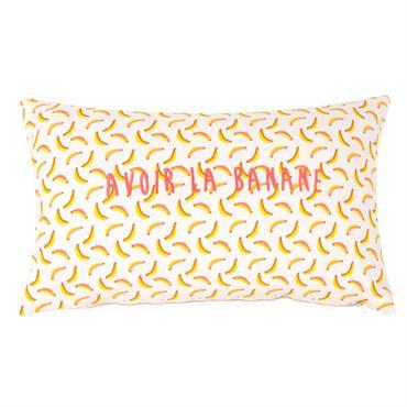 Housse de coussin en coton motifs bananes 30x50
