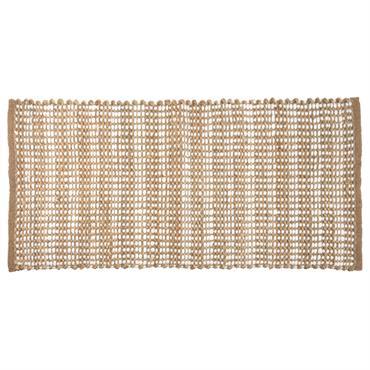 Tapis en coton doré motifs graphiques 60x120