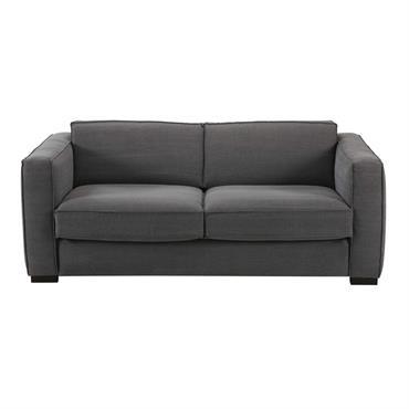 LIGNES DOUCES ET AUTHENTIQUESLa douceur et la simplicité des lignes de ce canapé 3 places en coton gris habilleront votre salon d'authenticité.UNE COULEUR INTENSESon coloris gris profond apportera du caractère ...