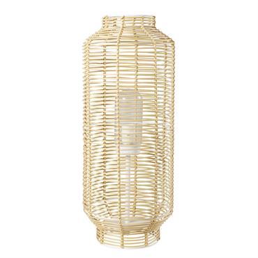 Lampe d'extérieur tressée imitation fibre végétale