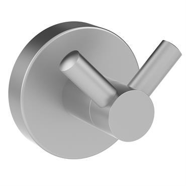 Patère double gris chromé