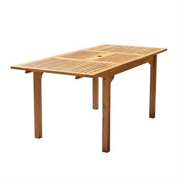Table de jardin extensible en acacia 6 personnes