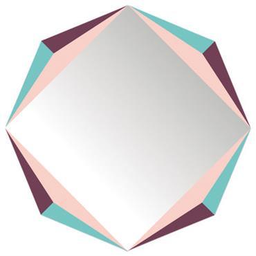 Miroir autocollant The Octagon / 48 x 48 cm - Domestic multicolore