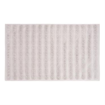 Tapis de bain en coton motifs losanges 50x80
