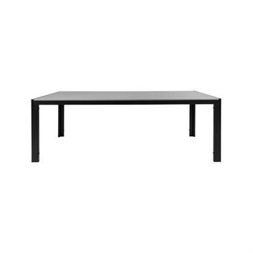 Table de jardin 205x95cm aspect bois