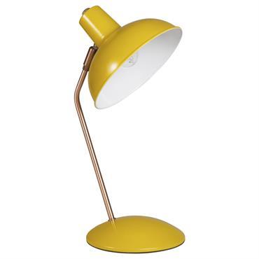 Lampe de bureau en métal jaune moutarde