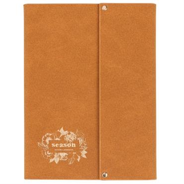 Carnet de notes en suédine marron