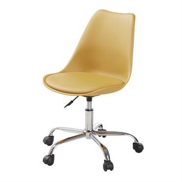 Chaise de bureau à roulettes ocre Bristol