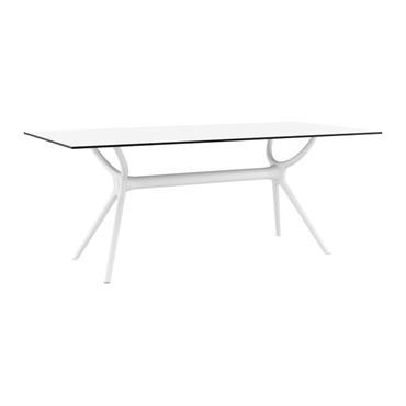 Table à manger blanche intérieur/extérieur 180 cm