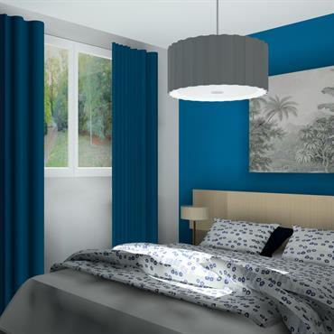 La chambre d'une belle superficie et communicante à une salle de bain privative, permet de créer une belle suite parentale. ... Domozoom