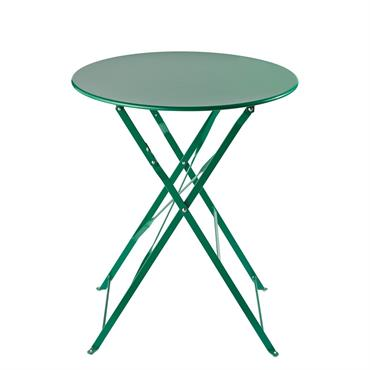 Table de jardin pliante en métal vert D58 Guinguette