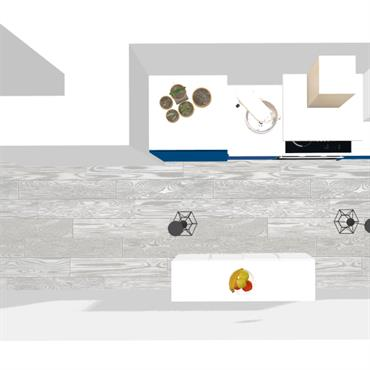 Optimisation & aménagement d'une cuisine de 8 m² en vue de la mise en location du logement.  À la fois simple ... Domozoom