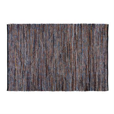 Tapis en coton et cuir 160x230cm JEANA