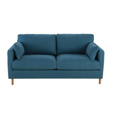 Canapé-lit 3 places bleu pétrole Julian