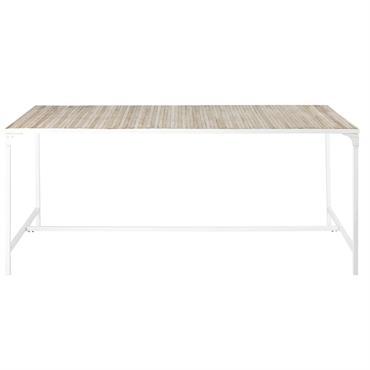 Table à manger en métal blanc 6/8 personnes L180 Mistral