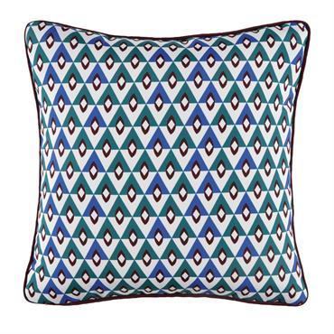 Coussin d'extérieur motifs graphiques multicolores 45x45