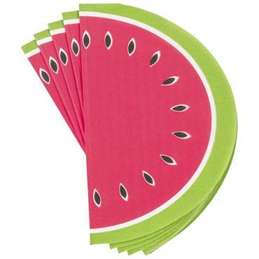 Paquet de 20 serviettes imprimé pastèque
