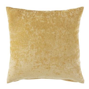 Accessoirisez votre canapé avec le coussin en velours jaune moutarde 60x60 VINT ! Sa couleur lumineuse apportera du peps et une dose de bonne humeur au salon, tout en créant ...