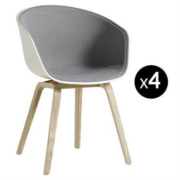 Fauteuil rembourré About a chair AAC22 / Lot de 4