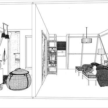 Cette pièce sous pente était utilisée en chambre d'appoint et la maison ne possèdait qu'une seule salle de bain. Une ... Domozoom