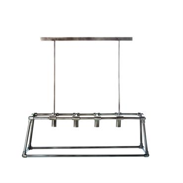 Suspension tuyaux en métal brossé