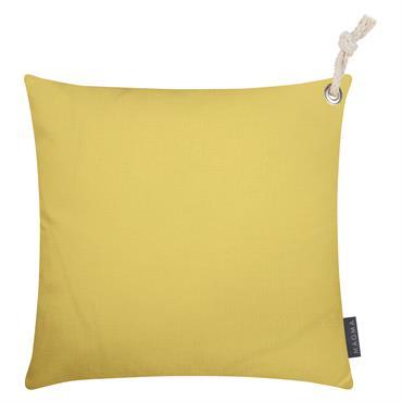Housses de coussin outdoor avec corde moutarde - Lot de 2 - 40x40