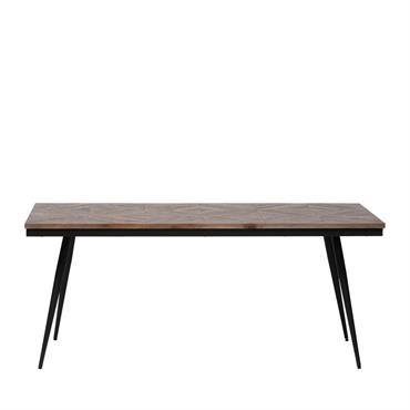 Table à manger en bois et métal 180x90cm