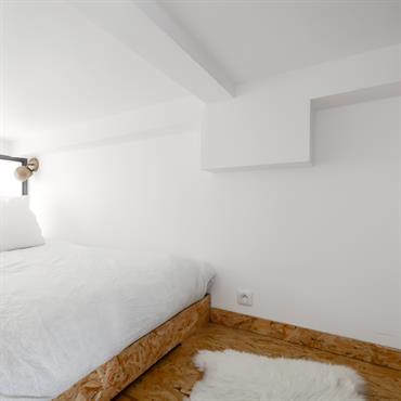 Chambre à coucher loft.