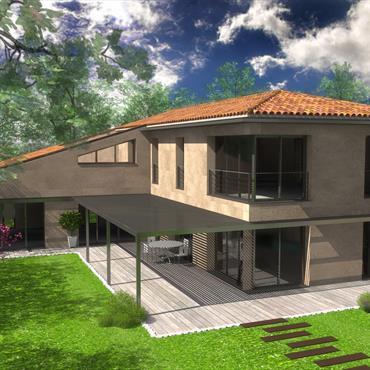 Création d'une villa contemporaine provençale en site protégé (30)  Domozoom