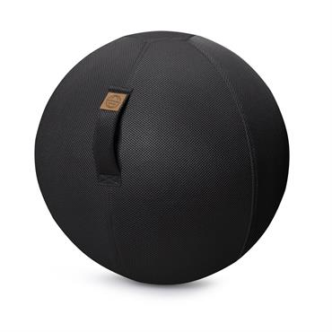 Balle d'assise gonflable enveloppe tissu mesh noir