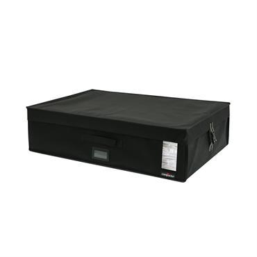 Coffre de rangement sous vide noir 72x49cm