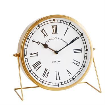 Horloge à poser en métal doré