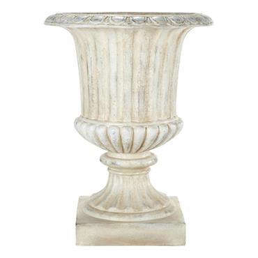 Coupe de jardin en magnésie blanche H 71 cm EYGUIERES
