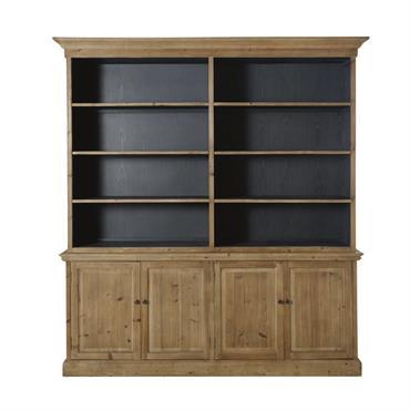Ce produit est composé à partir de bois récupéré. Ce système permet d'offrir une deuxième vie à la matière première. Le vaisselier 4 portes 6 étagères en pin recyclé SPINOZA ...