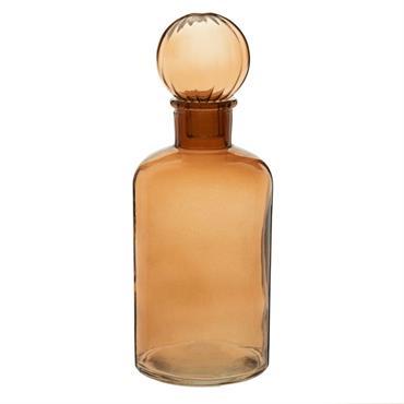 Flacon décoratif en verre marron H22