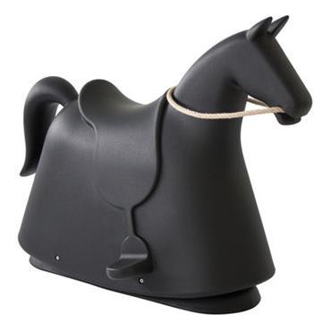 Cheval à bascule Rocky - Magis Collection Me Too noir en matière plastique