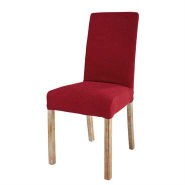 Housse de chaise en tissu bordeaux